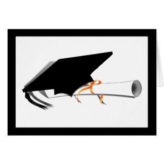 Abschluss-Kappe mit Diplom Grußkarte
