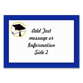 Abschluss-Kappe w/Diploma - dunkelblauer Karte