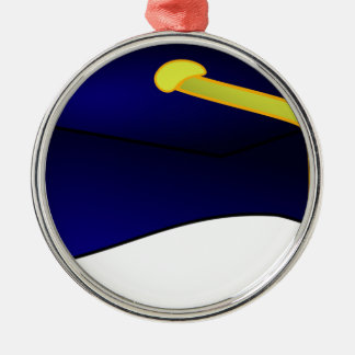 Abschluss-Kappen-Illustration Silbernes Ornament