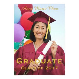 Abschluss-Mitteilungs-Abschluss-Einladung Karte