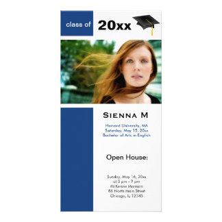 Abschluss-offenes Haus-Blau) Bilderkarten