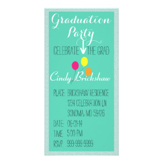 Abschluss-Party Einladung Bildkarte