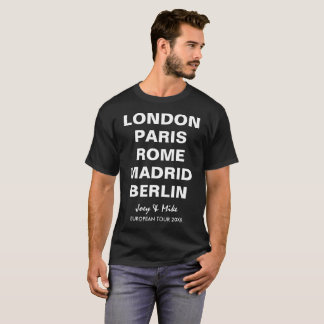 Abschluss-Reise-europäische T-Shirt