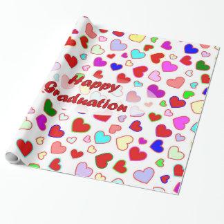 Abschluss-rotes multi Herz-Verpackungs-Papier Geschenkpapier