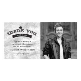Abschluss-Skizze-silberne Folie danken Ihnen Karte