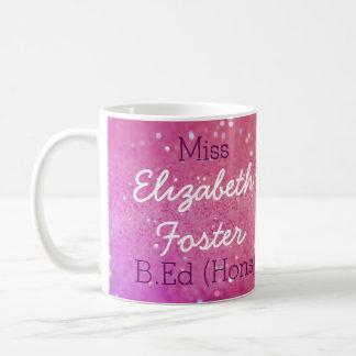 Abschluss-Tasse Fräulein-(Ihr Name) B.Ed (Hons) Kaffeetasse