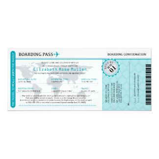 Abschluss-Weltreisend-Boarding-Durchlauf 10,2 X 23,5 Cm Einladungskarte