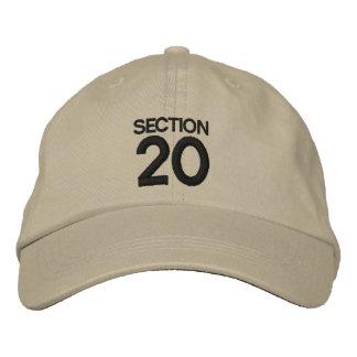 ABSCHNITT 20 Streik zurück inspirierte Hut/Kappe Bestickte Baseballkappe