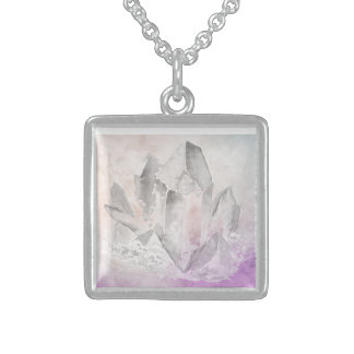 *~* Absichts-Amethyst heilende Kristallenergie Sterling Silberkette