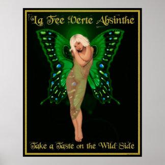 Absinthe de Verte d'honoraires de La Poster