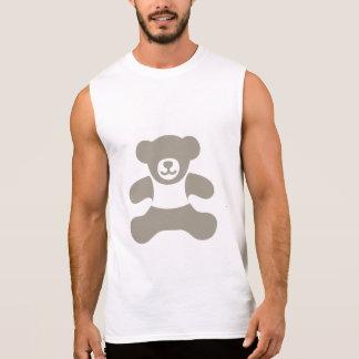 Absoluter Teddybär - hellgraues gefülltes Ärmelloses Shirt