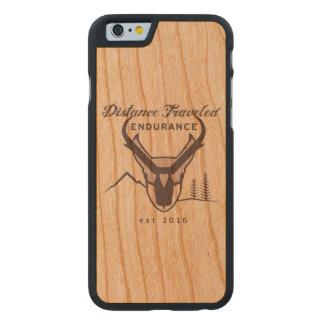 Abstand reiste Ausdauer-Telefon-Kasten Carved® iPhone 6 Hülle Kirsche