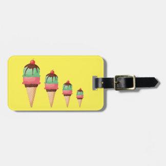 Absteigende Eistüten Gepäckanhänger