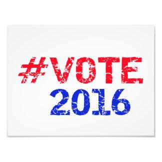 Abstimmung 2016 beunruhigtes Hashtag Fotodruck