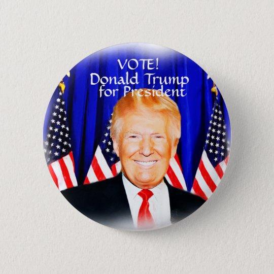 ABSTIMMUNG! Donald Trump für President_ Runder Button 5,7 Cm