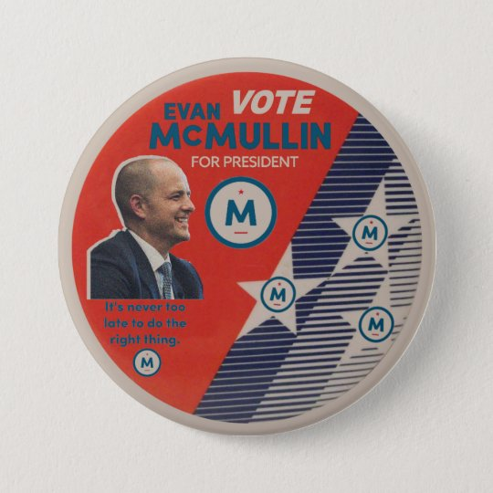 Abstimmung Evan McMullin 2016 Runder Button 7,6 Cm