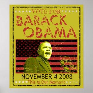 Abstimmung für Barack Obama Plakate