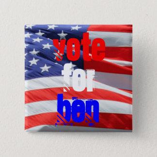 Abstimmung für Ben Carson, Präsidentschaftswahlen Quadratischer Button 5,1 Cm