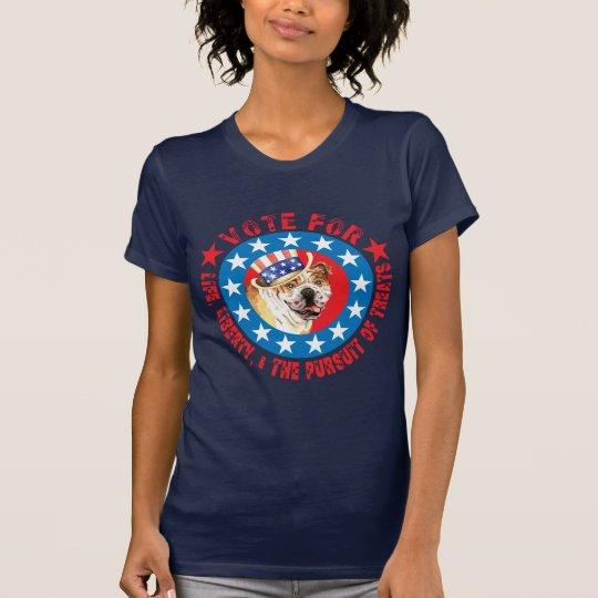 Abstimmung für Bulldogge T-Shirt