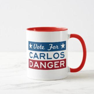 Abstimmung für Carlos-Gefahr Tasse