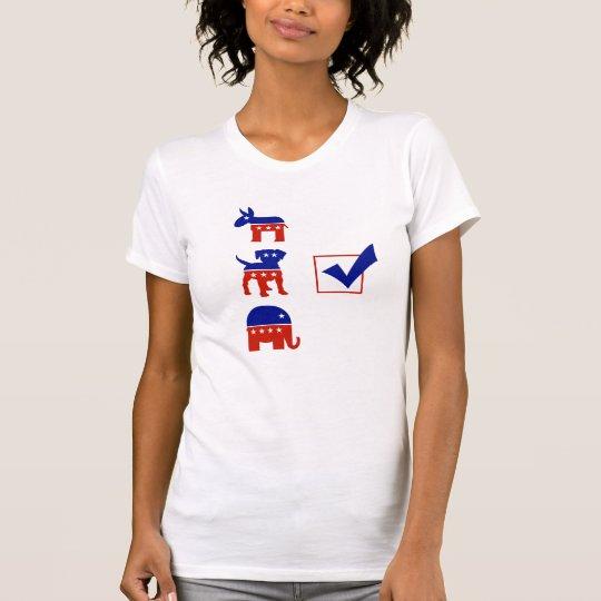 Abstimmung für den Hund im Rennen T-Shirt