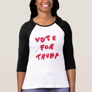 ABSTIMMUNG FÜR den TRUMPF - schwarz, weißes, rotes T-Shirt