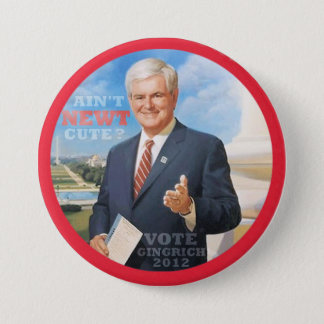 Abstimmung Gingrich 2012 Runder Button 7,6 Cm