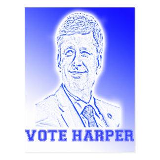 Abstimmung Harper Postkarten