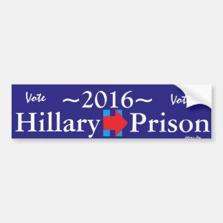 Abstimmung Hillary für Autoaufkleber