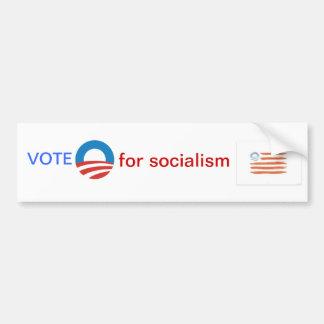 Abstimmung O für SOZIALISMUS Autoaufkleber