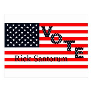 Abstimmung Rick Santorum für Präsidenten 2016 Postkarte