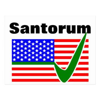 Abstimmung Rick Santorum für Präsidenten Postkarte
