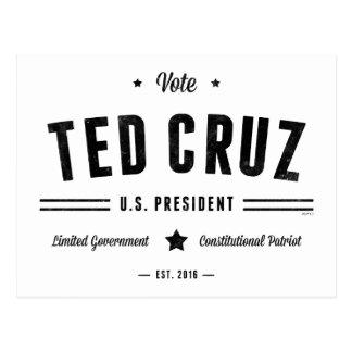 Abstimmung Ted Cruz 2016 Postkarte