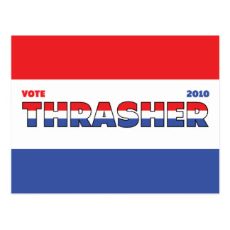 Abstimmung Thrasher 2010 Wahlen rotes weißes und Postkarte
