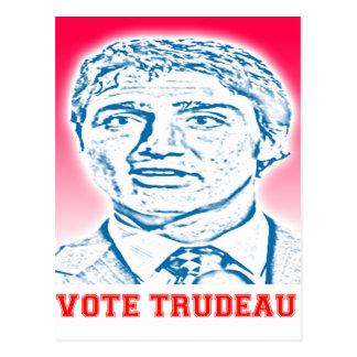 Abstimmung Trudeau Postkarte