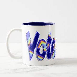 Abstimmung Zweifarbige Tasse