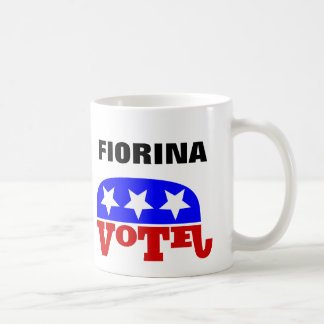 Abstimmungs-Carly Fiorina-Republikaner-Elefant Kaffeetasse