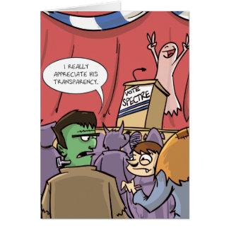 Abstimmungs-Erscheinung   politisches Halloween Grußkarte