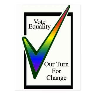 Abstimmungs-Gleichheit Postkarte
