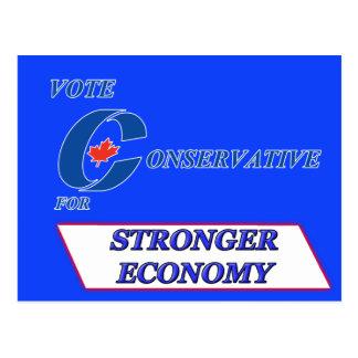 Abstimmungs-Konservativer für stärkere Wirtschaft Postkarte
