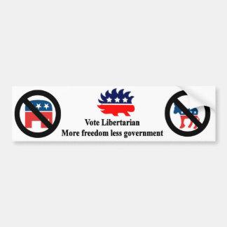 Abstimmungs-Liberalist Autoaufkleber