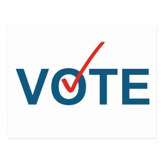 Abstimmungs-Prüfzeichen-rote Wahl-politische Postkarten