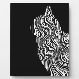 Abstract Black and White Cat Swirl Monochroom Fotoplatte