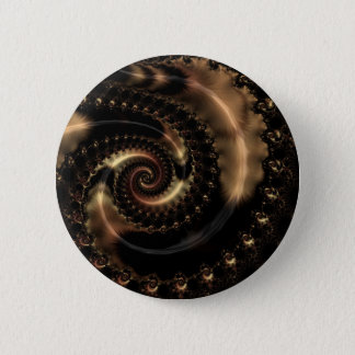 Abstract fractal patterns and shapes. Fractal Art Runder Button 5,7 Cm