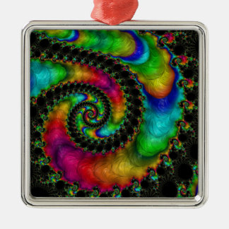 Abstract fractal patterns and shapes. Fractal Art Silbernes Ornament