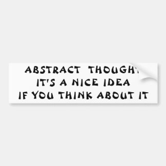 Abstract Thought Nice Idea Think About It Autoaufkleber