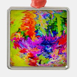 Abstrakt in Perfektion 10 Silbernes Ornament