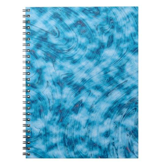 Abstrakt Kunst-blauer und weißer Hintergrund Spiral Notizblock
