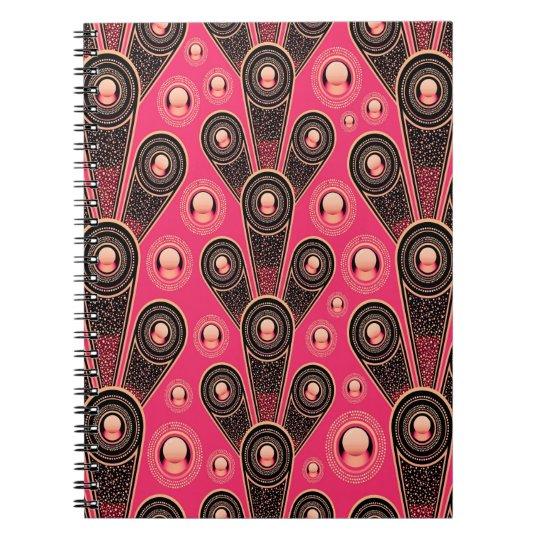 Abstrakt Kunst-grauer und rosa Glitter-Hintergrund Notizblock