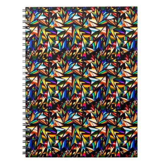 Abstrakt Kunst-Sterne Notizblock